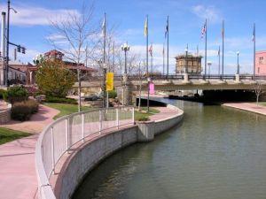 Historic Arkansas Riverwalk in Pueblo, CO.
