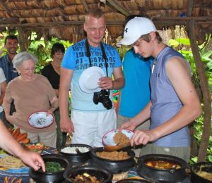 Mealtimes are great social times to get to know fellow travelers from Czech Republic.