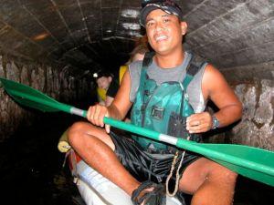 Flumin' da ditch in Hawaii, a boat trip through aqueducts.