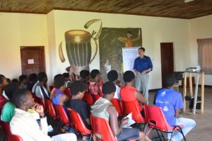 I spoke to the Agahozo Shalom Youth Village Environmental Club about guide careers during our brief visit.