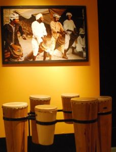 The drums are from Africa but you are invited to play them.