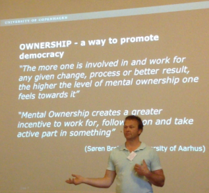 Poul Seidler spoke about our audience taking ownership if we facilitate well.
