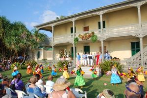 Christmas in Kailua-Kona includes hula performances at the Hulihee Palace and a street fair with local products and music.