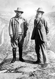 President Teddy Roosevelt and John Muir (right)