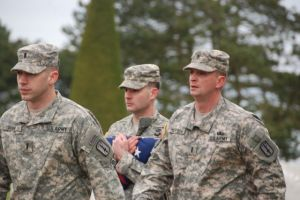 U.S. soldiers, recently back from Afghanistan, stopped at Normandy to pay respects - March 2012.