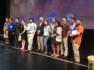 Famelab finalists at Rensselaer Polytechnic Institute on July 29.