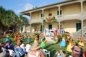 The Hulihee Palace (historic site) in Kailua, Hawaii, hosts a monthly music celebration that is free to all who wish to attend.