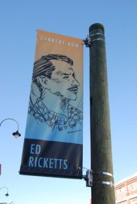 Street banners in Monterey, California, remind you of the Steinbeck characters from Cannery Row.