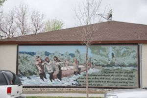 Whitehall, Montana, uses murals to remind people of their place on the Lewis & Clark Voyage of Discovery route.