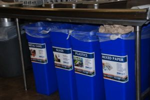 Recycling containers are great locations to extend guest understanding of solid waste implications on the environment.