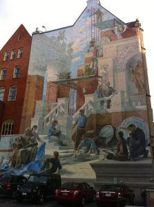 Murals share heritage stories in very public places like this one in Philadelphia.
