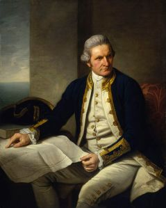 By Nathaniel Dance-Holland - from the National Maritime Museum, United Kingdom - James Cook official portrait